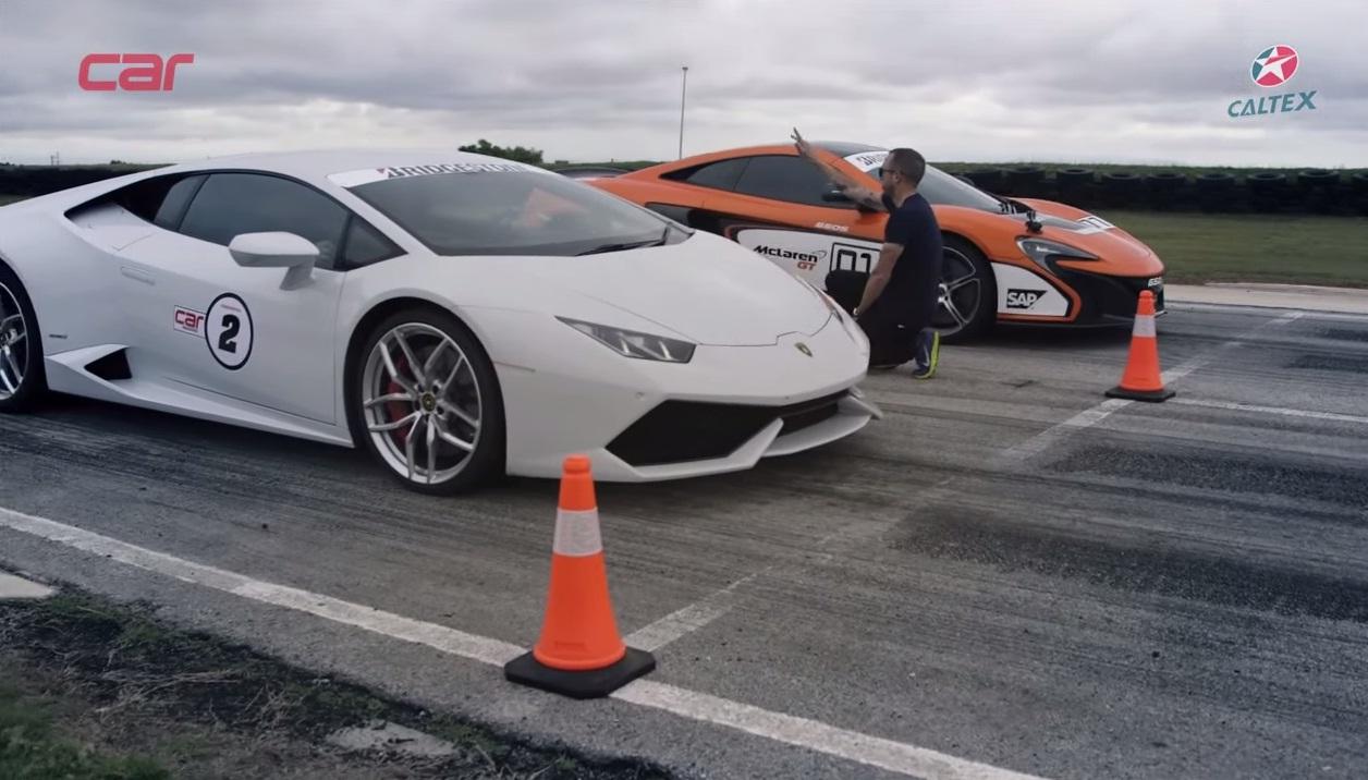 Lamborghini Huracan Drag Races McLaren 650S – Video - autoevolution