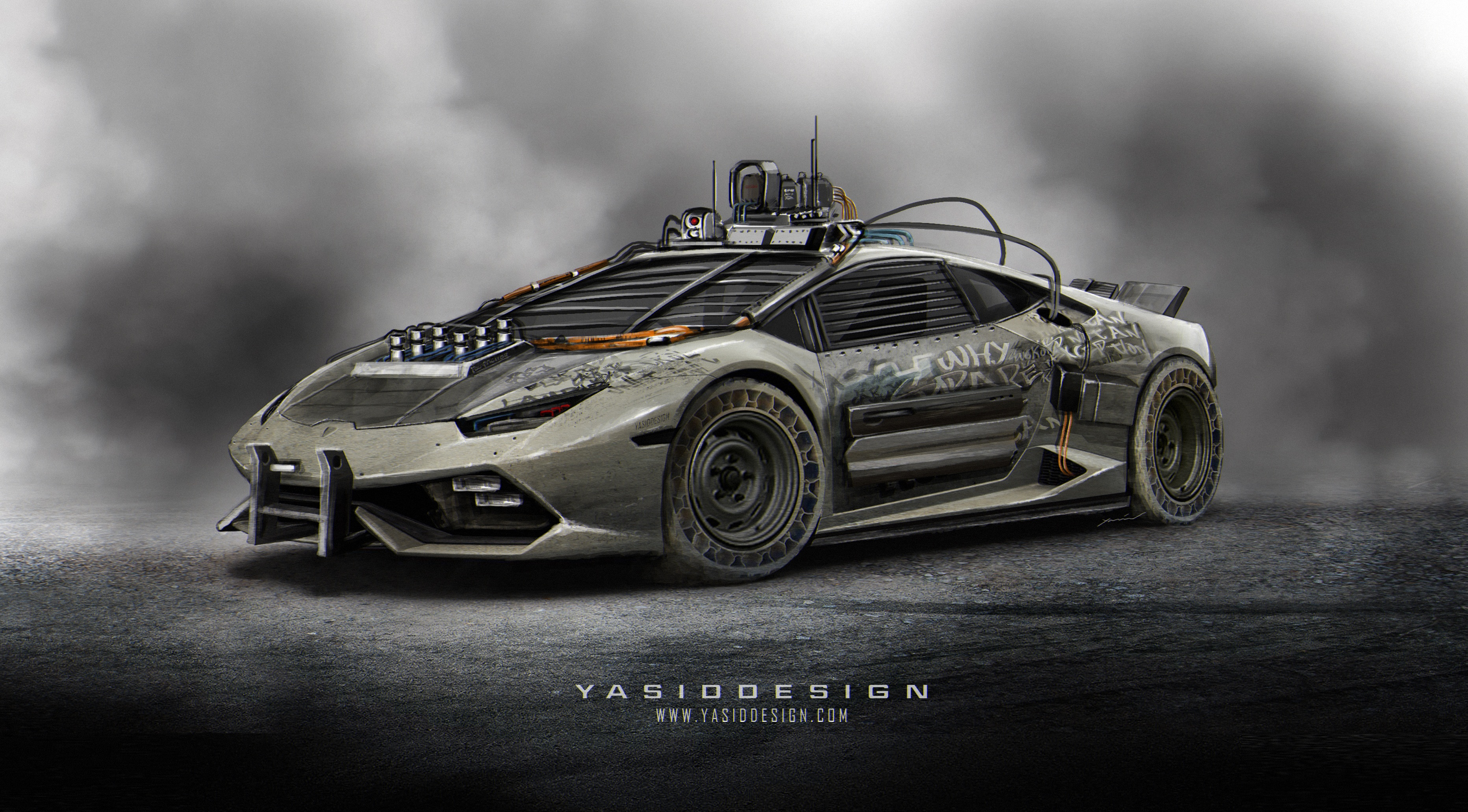 Lamborghini Huracan Gets The Elysium Rendered Makeover Post Apocalyptic Nightmare Autoevolution