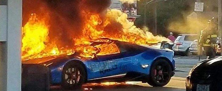 Lamborghini Huracan Performante Burns Down In Missouri Gas Station Accident Autoevolution