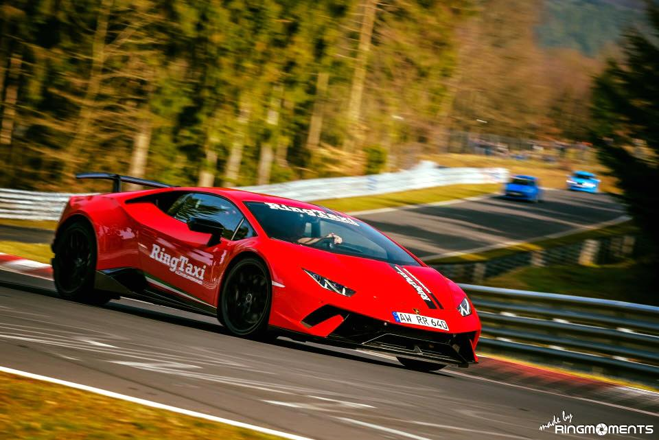Lamborghini Huracan Performante Nurburgring Taxi Spotted on