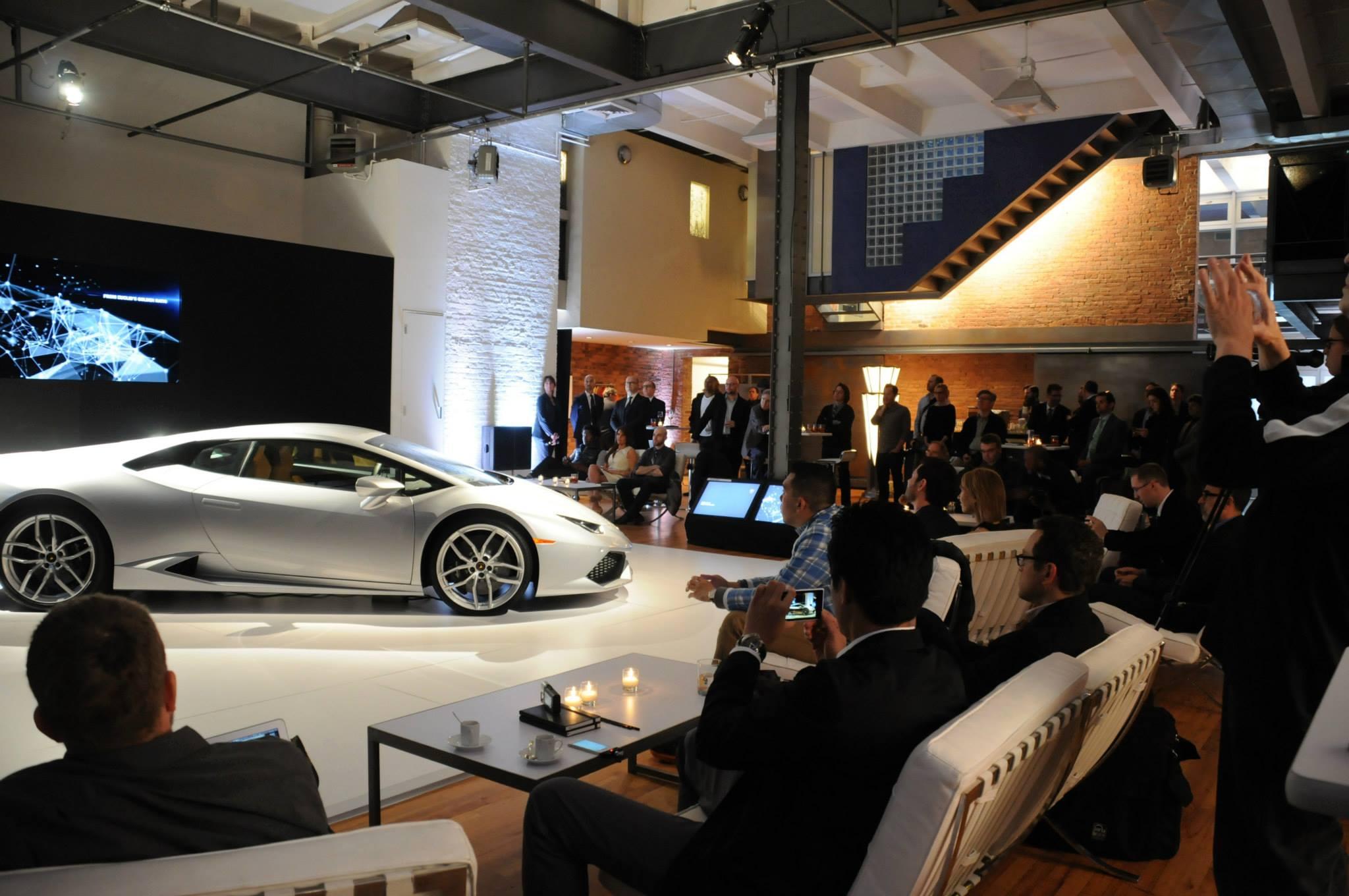 Lamborghini Huracan Showcased in New York at Bathhouse Studios ...