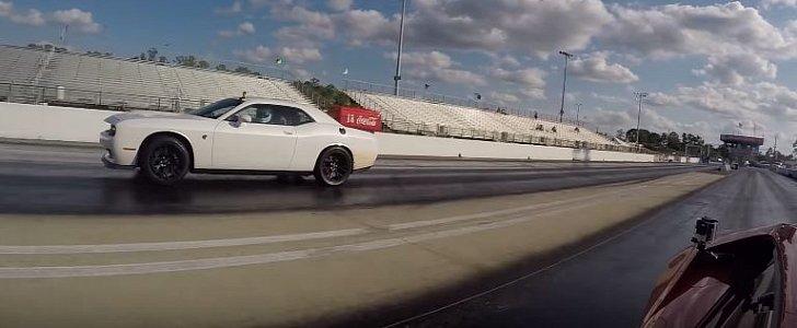Quarter Mile Calculator >> Lamborghini Huracan vs. 800 HP Challenger Hellcat Drag Race Needs a Photo Finish - autoevolution