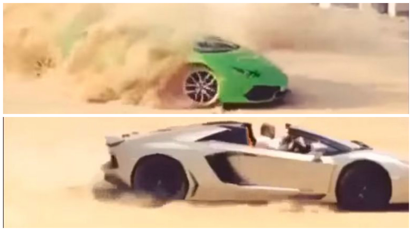 lamborghini huracan vs aventador roadster offroading comparison ruined on sand autoevolution. Black Bedroom Furniture Sets. Home Design Ideas