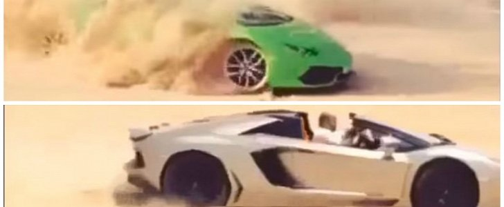 lamborghini huracan vs aventador roadster offroading. Black Bedroom Furniture Sets. Home Design Ideas