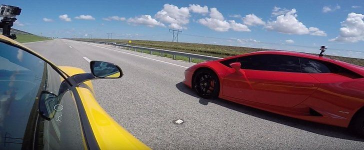lamborghini huracan vs mclaren 650s spider drag race proves more than one point autoevolution. Black Bedroom Furniture Sets. Home Design Ideas