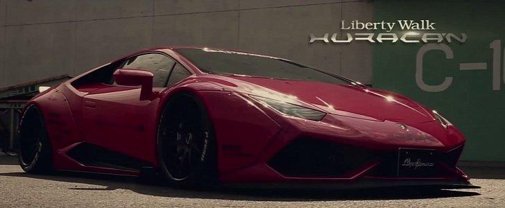 Lamborghini Huracan With Liberty Walk Body Kit And Fi