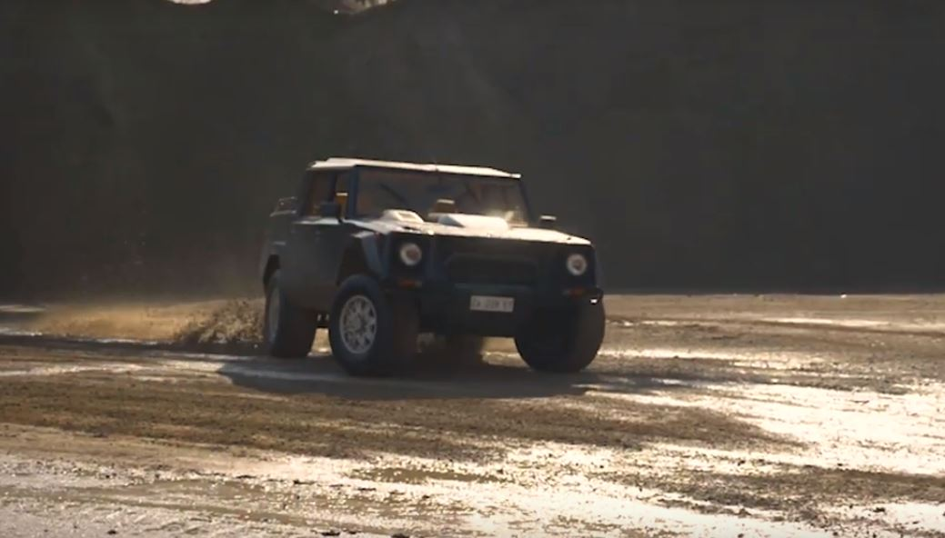 Lamborghini Lm002 Drifting In A Quarry Is The Top Gear
