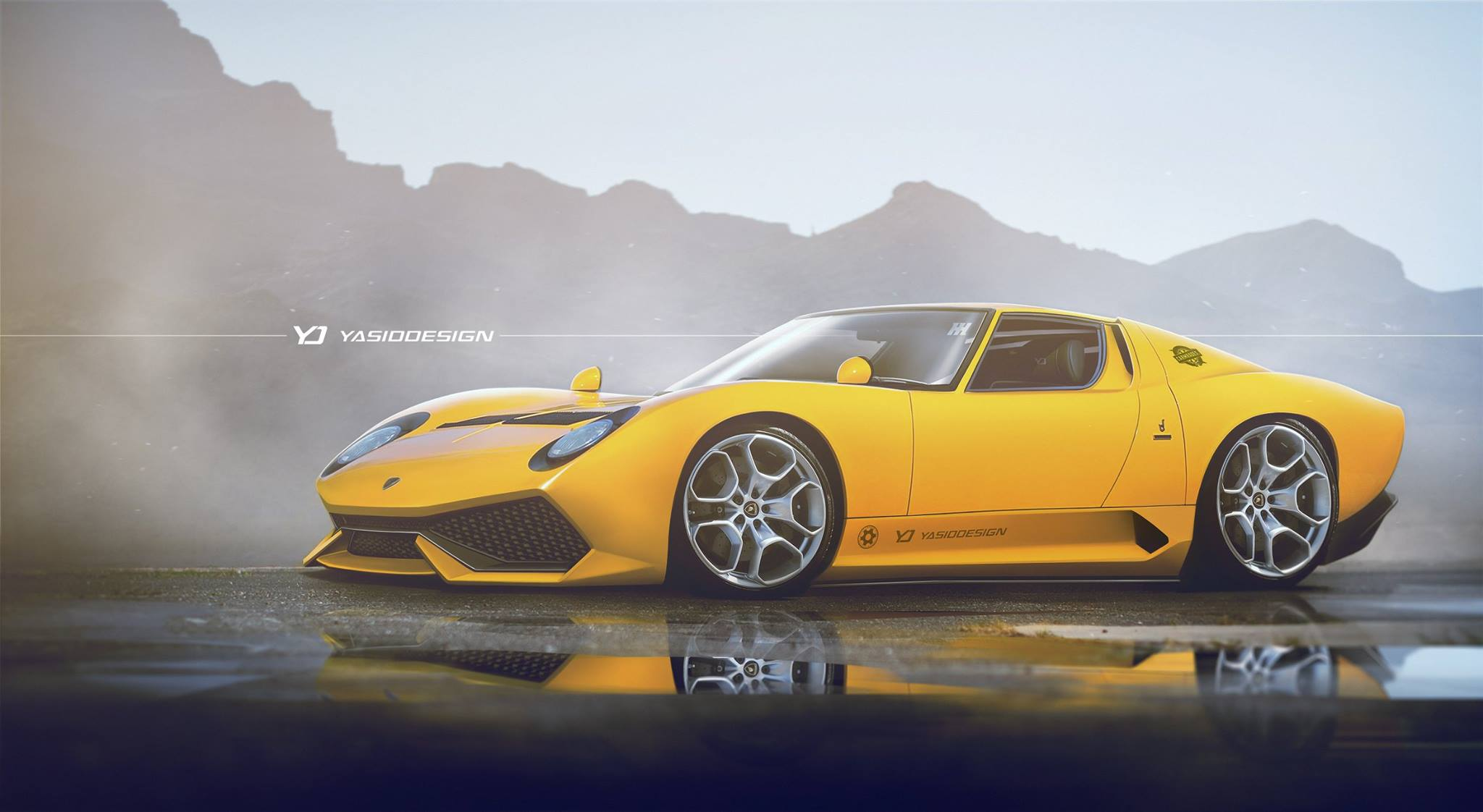 Lamborghini Miura Meets Huracan In Miuracan Mashup That Will Offend