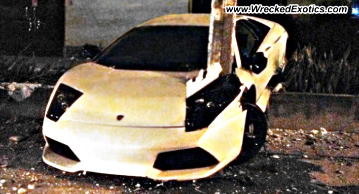 Lamborghini Murcielago Becomes One With Tree
