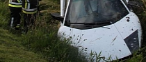 Lamborghini Murcielago Crashes into Ditch after Being Cut Off