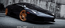 Lamborghini Murcielago Gets Rose Gold PUR Wheels
