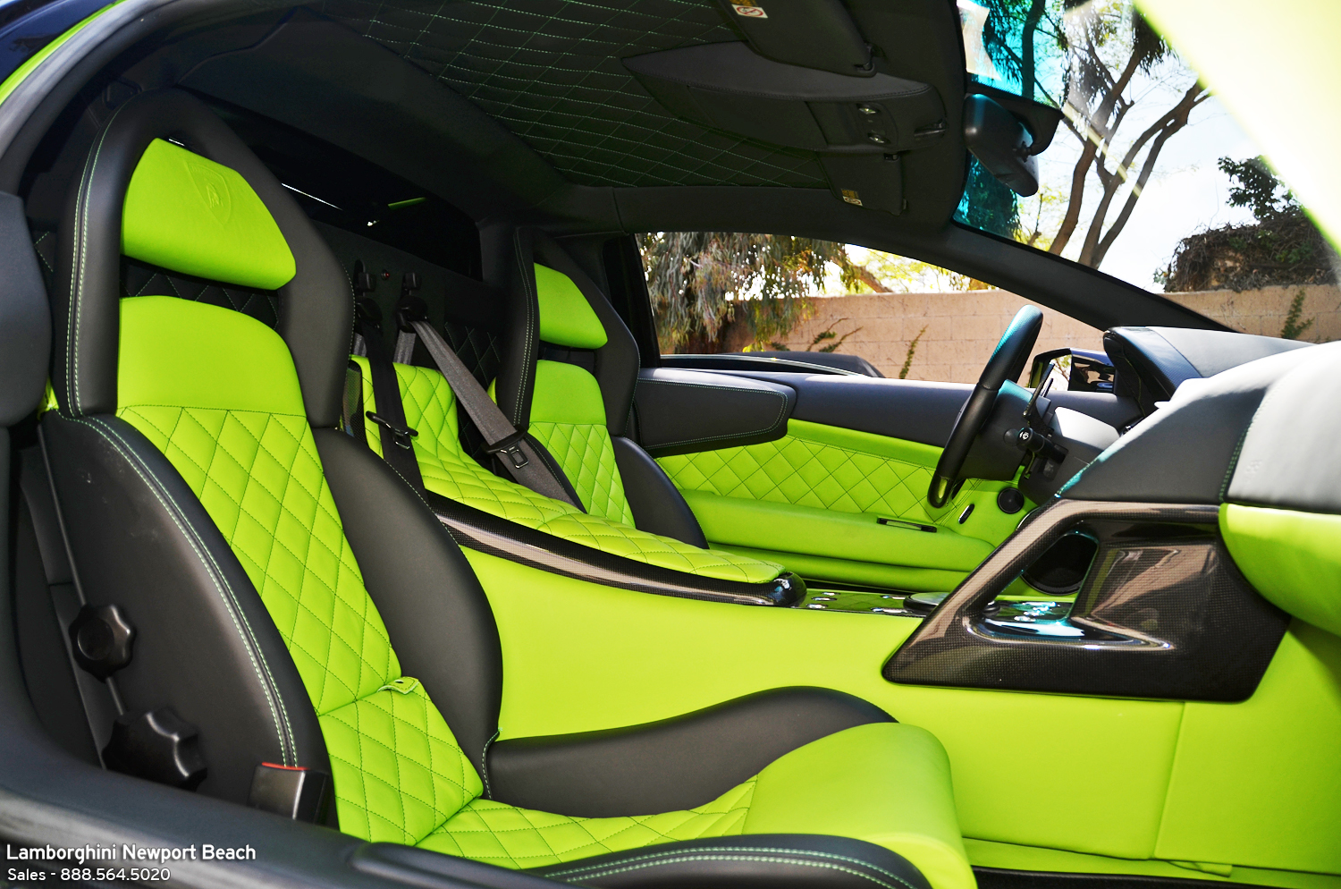 lamborghini murcielago lp640 with acid green interior for sale autoevolution