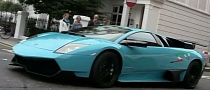 Lamborghini Murcielago LP670-4 SV in Baby Blue Screams on Video