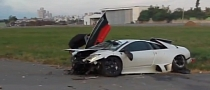 Lamborghini Murcielago Races T-Rex RC Helicopter, Loses and Crashes [Video]