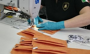 Lamborghini Now Fights the Coronavirus by Making Surgical Masks, Medical Shields