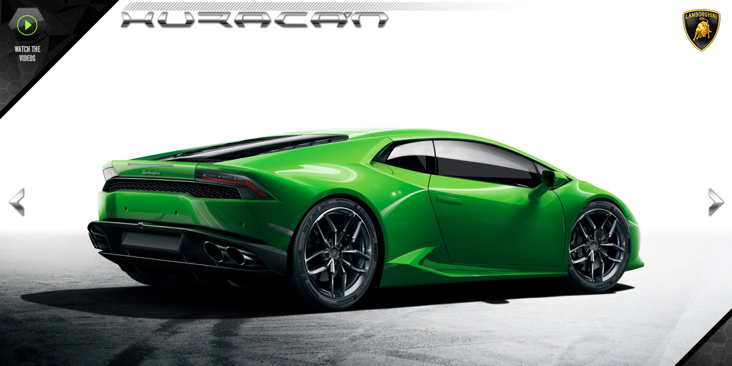 lamborghini opens huracan official website autoevolution. Black Bedroom Furniture Sets. Home Design Ideas