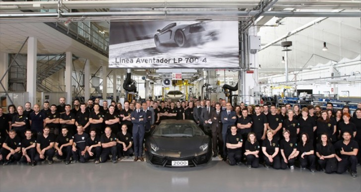 Lamborghini Produces 2,000th Aventador