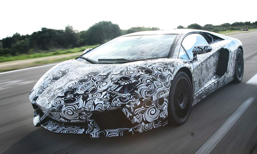 Lamborghini Teases Aventador In Camo Autoevolution
