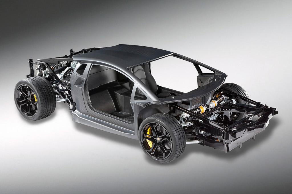 Lamborghini Unveils Aventador... V12 Rolling Chassis - autoevolution