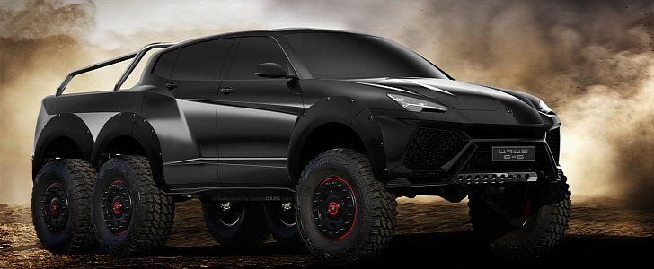 Lamborghini 2017 Price >> Lamborghini Urus 6x6 Pickup and Production Model Rendered - autoevolution