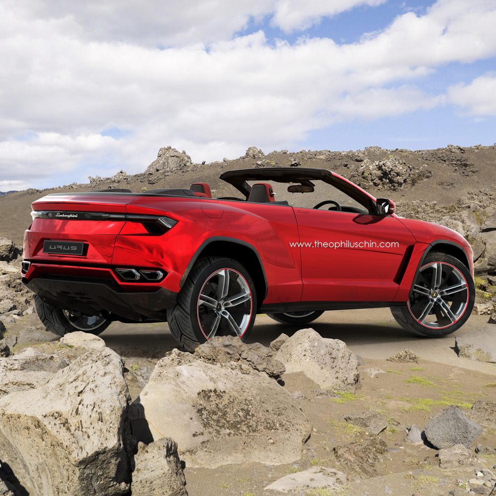 Lamborghini Urus Cabrio The Topless Bull Rendered