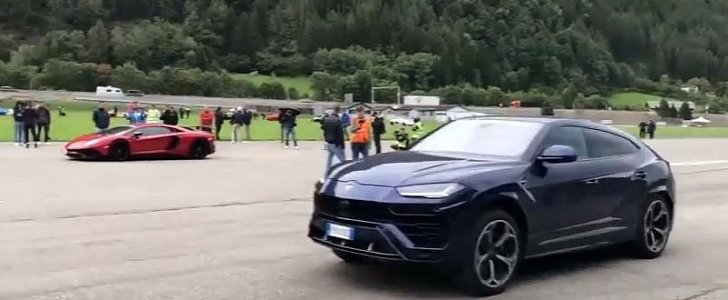 Lamborghini Urus Drag Races Aventador Sv Obliteration Follows