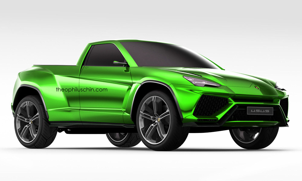 Lamborghini Urus Pickup Truck Is A Modern Lm002 Rendering Autoevolution