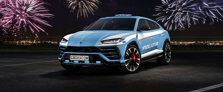 lamborghini urus police car looks really threatening autoevolution. Black Bedroom Furniture Sets. Home Design Ideas