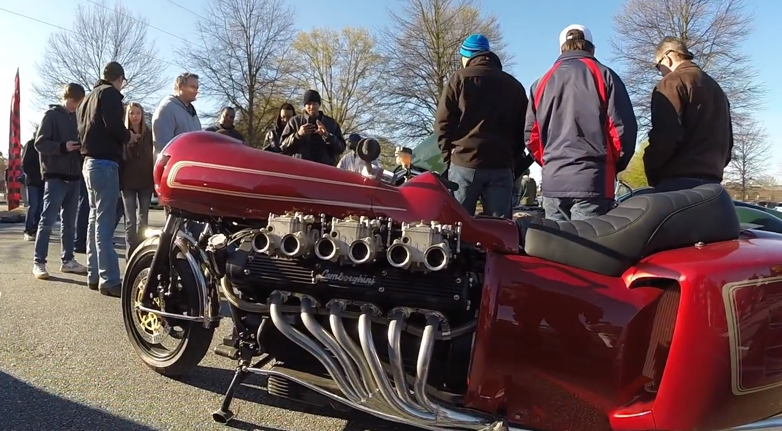 Lamborghini V12 Powered Motorcycle Gets Cool Neo Retro Fairings