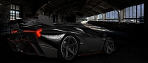 Lamborghini Veneno Gets Black Paint and ADV.1 Wheels [Virtual Tuning]