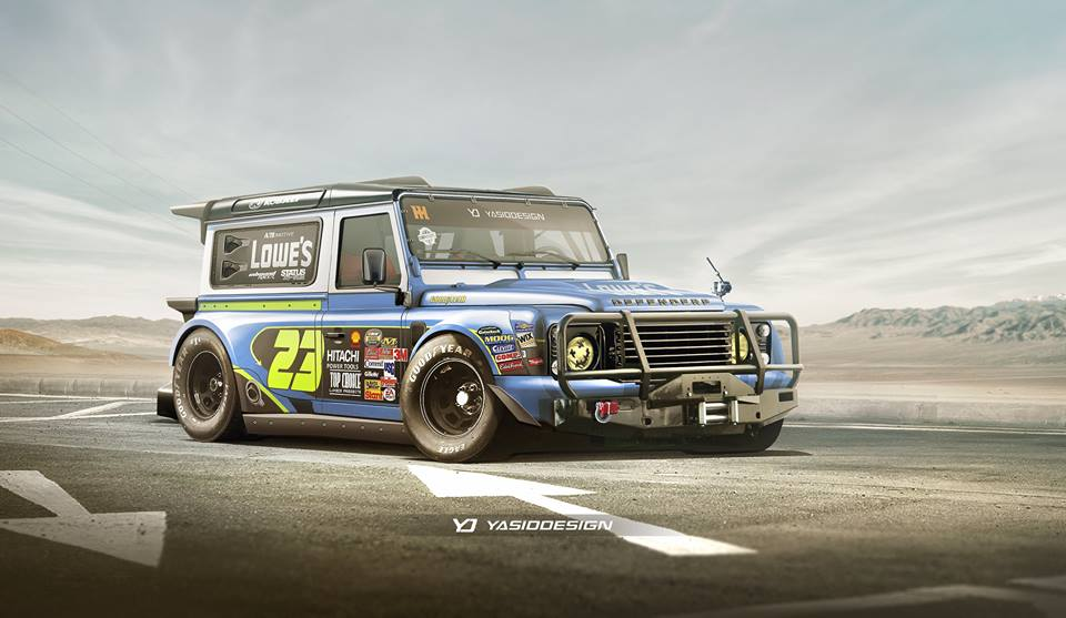 Nascar Land Rover Defender Mashup Would Make One Hell Of