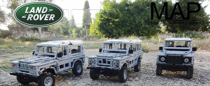Land Rover Series II, Series III and Defender Made from Lego on ...