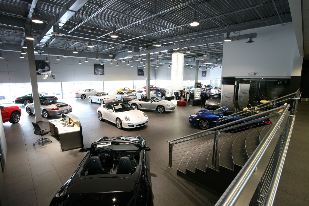 Largest Porsche Dealership In Na Now Open 19998 on jack ceiling for cars
