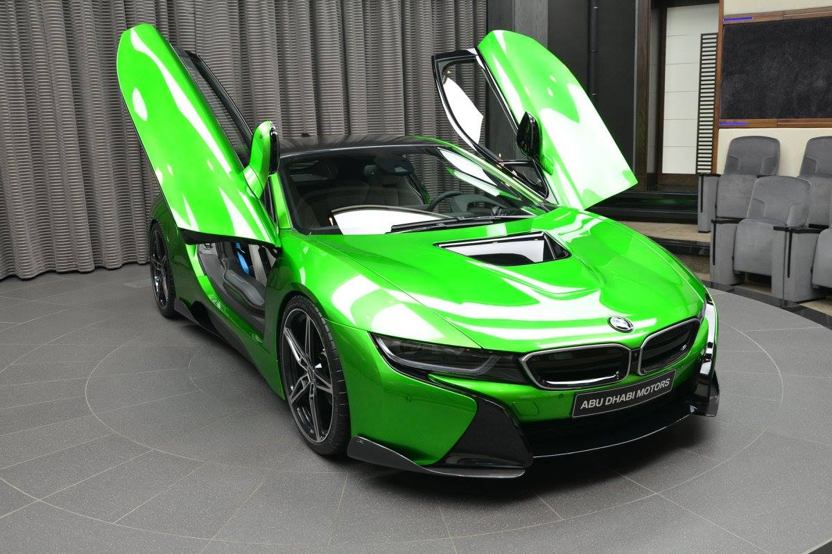 ... Lava Green BMW I8 Revealed In Abu Dhabi ...