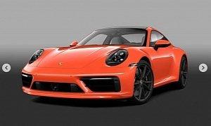 Lava Orange 2020 Porsche 911 (Sport Design Package) Shows Screaming Spec