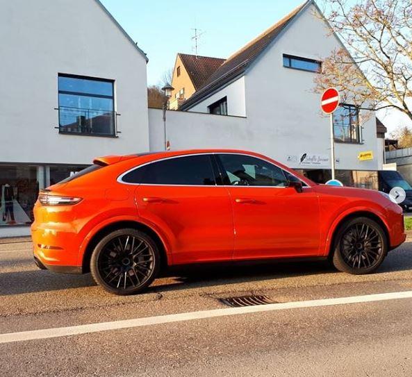 Lava Orange Porsche Cayenne Turbo Coupe Looks Sleek In