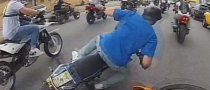 Lazy or Silly Rider Causes Fellow to Crash Really Bad [Video]