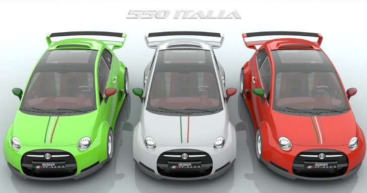 Lazzarini Design Dreams Up Ferrari-Powered Fiat 550 Italia