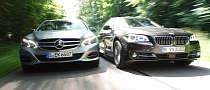 LCI BMW F10 520d vs Mercedes-Benz E220 CDI Comparison Test
