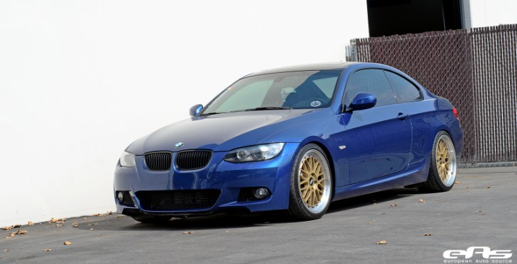 Le Mans Blue BMW E92 335i Hops on BBS LM Wheels