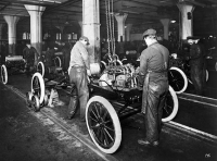 Assembly line for the Model T