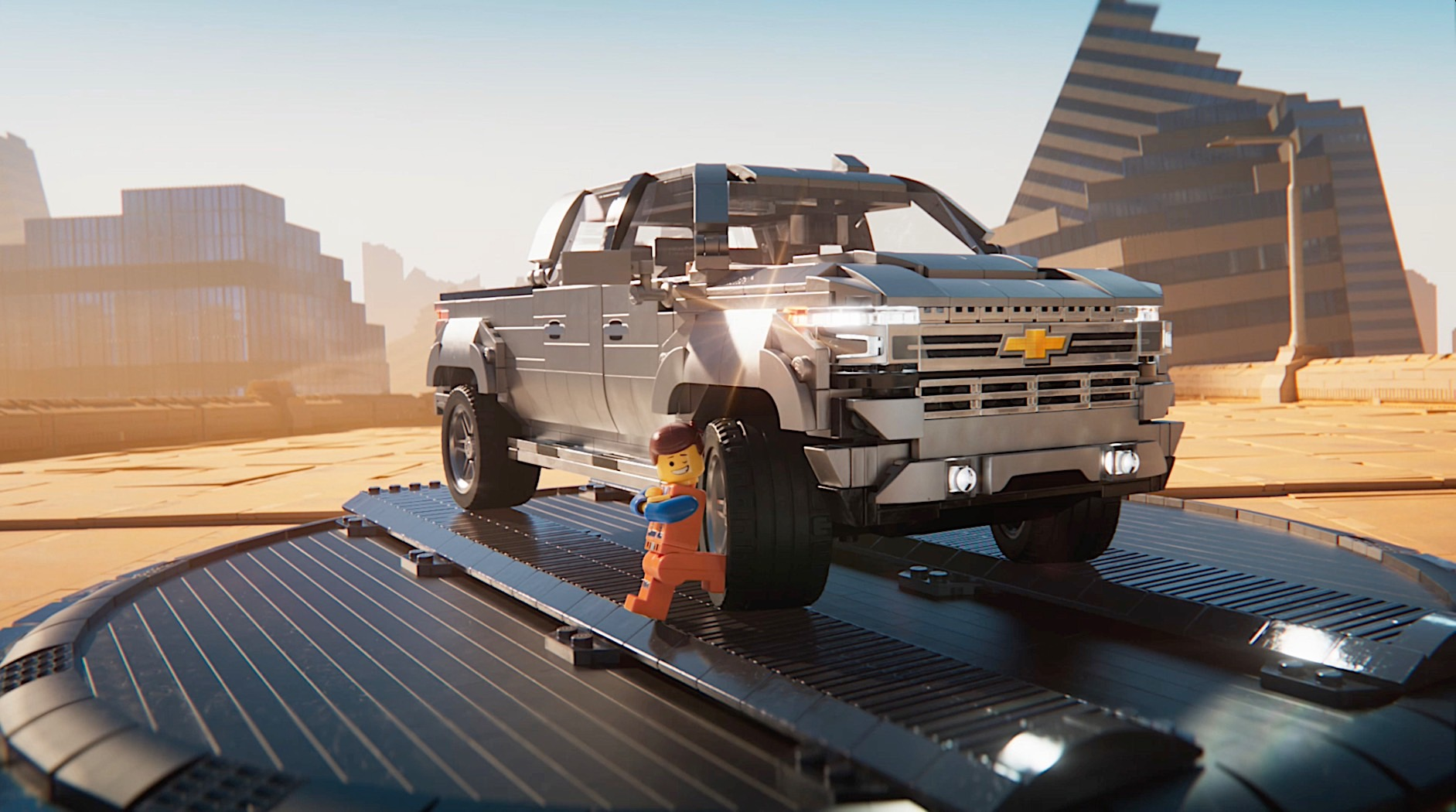 LEGO Chevrolet Silverado 1500 High Country Chased by ...