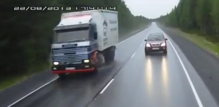 Lesson in How Not to Overtake [Video]