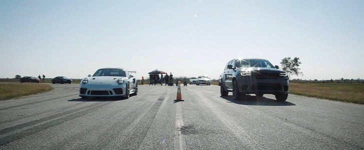 photo of Drag Racing RWD Apples With AWD Oranges: 911 GT3 RS Runs Into Jeep's Trackhawk image