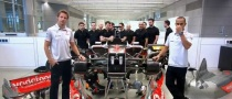 Lewis Hamilton and Jenson Button Build F1 Car in Vodafone Ad