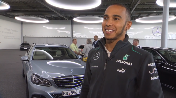 Lewis Hamilton and Nico Rosberg E-Class Delivery [Video]