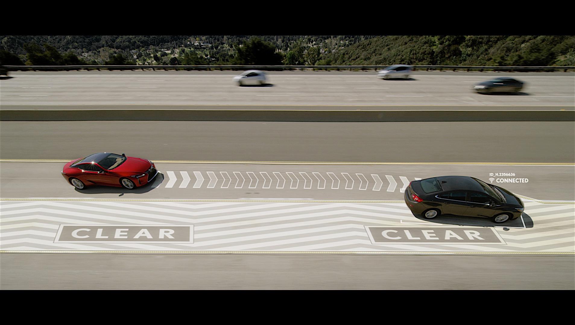 Lexus April Fools' Day prank uses V2V against left-lane hogs