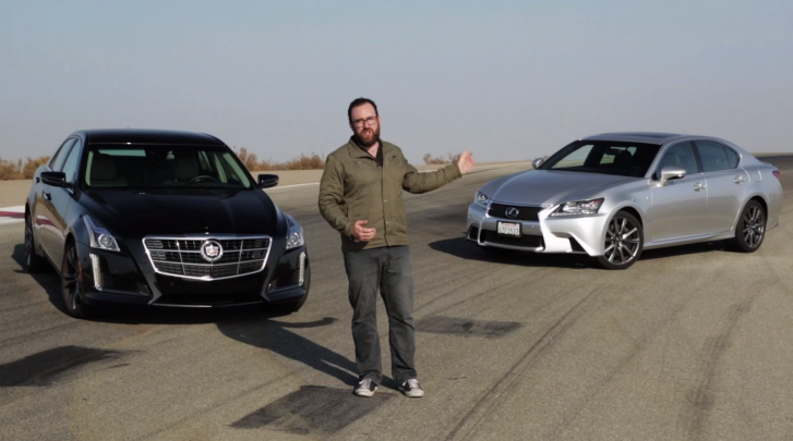 Lexus GS 350 F Sport vs Cadillac CTS Vsport by MotorTrend [Video]