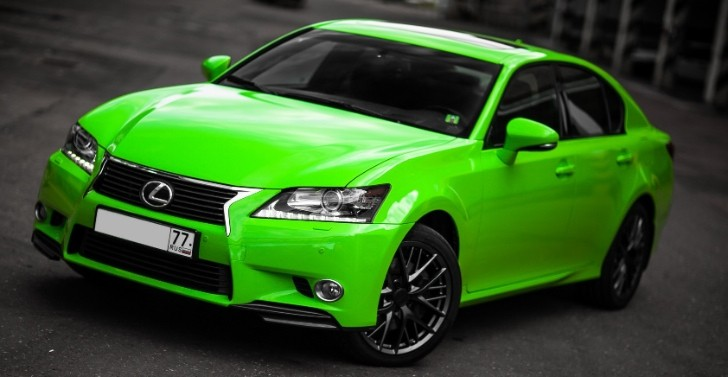 Lexus GS in Acid Green Looks Like the Hulk