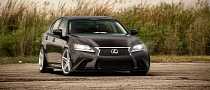 Lexus GS350 Slammed on Vossen CV5 Wheels [Video] [Photo Gallery]